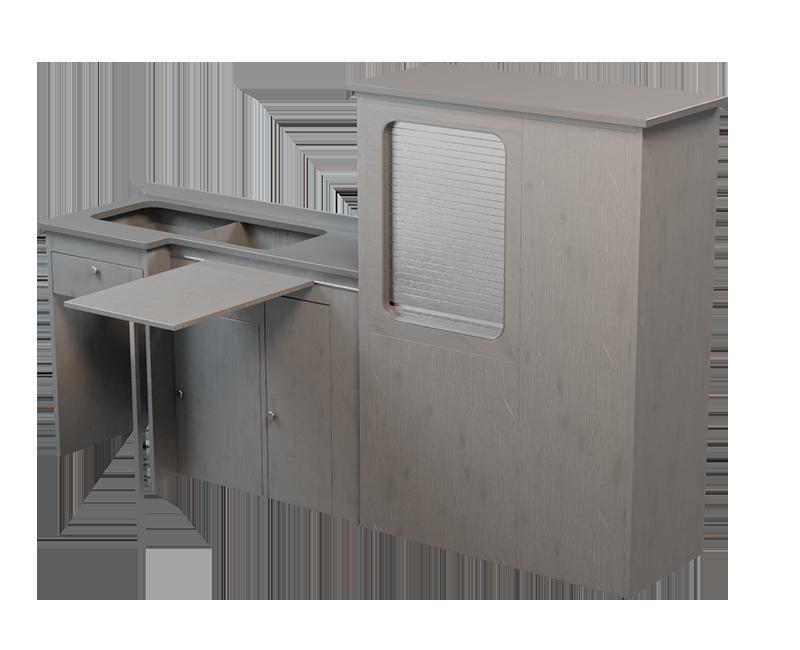 grey timber kitchens